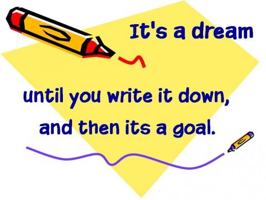 its a dream write it down